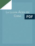La Lluvia Ácida en China