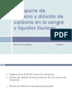 Transporte de Oxígeno y Dióxido de Carbono en La Sangre y Líquidos Tisulares.