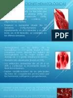 Modificaciones Hematológicas Seminario