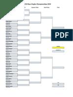 CHS Singles & Pairs Draw 2014