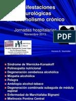 Manifestaciones neurológicas del alcoholismo crónico Jornadas 2013 - copia