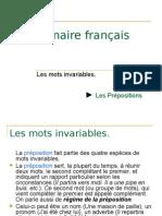 Grammaire français ->la préposition