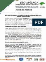 28.- Ebg Málaga Hace Historia Al Debuta en El Nacional