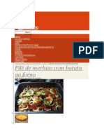 File de Merluza Com Batata Ao Forno