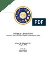 religious comparisons final paper