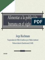 Jorge Riechamnn - Alimentar a La Poblacion Humana en El Siglo XXI