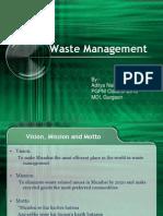 Waste Management Aditya Naik MDI