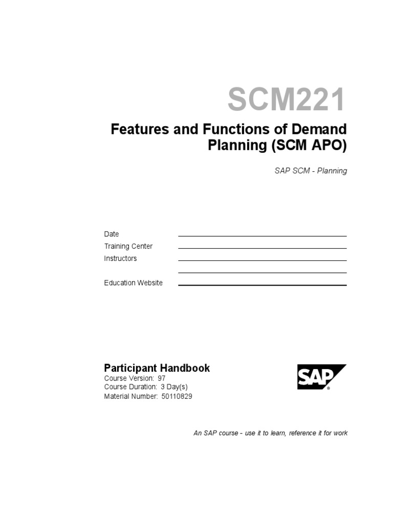Features and Functions of Demand Planning (SCM APO)_nodrm