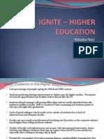 Higher Education Nitasha Nair MICA