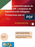 1.1.-Organismos Administradores y Empresas de Administración Delegada; y Las Prestaciones Que Otorgan