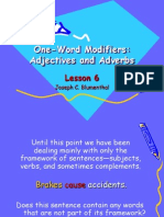 Lesson 6 One-Word Modifiers-Ajective Adverbs