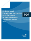 Evidence Based Psychological Interventions
