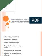 Características de la literatura contemporánea.pptx