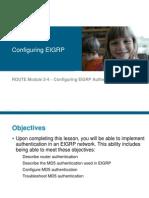 03-Configuring EIGRP Authentication