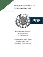 Laporan Praktikum Pendinginan Air