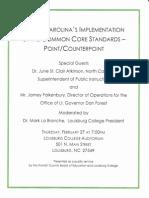 Common Core Forum Flyer