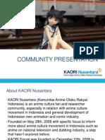 presentasi komunitas KAORI