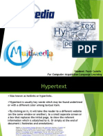 Hypertext, Hypermedia and Multimedia