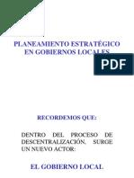 Planeamiento Estratégico de Gobiernos Locales 0