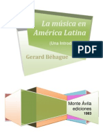 BEHAGUE La Musica en America Latina