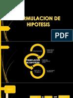 Formulacion de Hipotesis