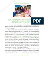 How important is the environment in language learning.pdf