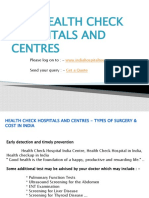 Health Check Hospitals And Centres - Types Of Surgery & Cost In India