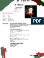 Curriculum Vitae - Jules Guiang Summary