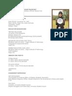 Curriculum Vitae - Macapado