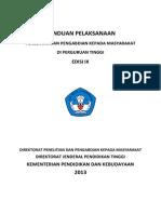 Panduan Pelaksanaan Penelitian Dan PPM Edisi IX 2013 25 Maret 2014