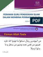 Peranan Guru Pendidikan Islam