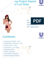Marketing Project Report on Lux Soap