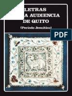 Letras de La Audiencia de Quito (Período Jesuítico)