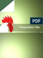Chicken Powerpoint Presentation template