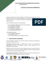 Acta Consejo General de FENEAP Sábado 29 de Marzo, Universidad de Valparaiso