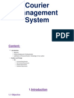 courier management system presentation