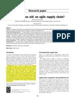 Humanitarian Aid - An Agile Supply Chain