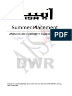 AISA Afghanistan- A comperhensive study of the organization structure and functioning