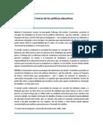 La Ciudadania en El Marco de Las Politicas Educativas