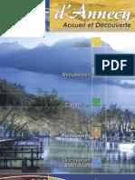 Lac annecy Accueil et Découverte brochure en
