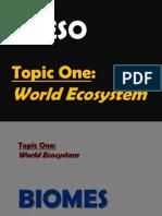 3º ESO.- Topic 1, World Ecosystem