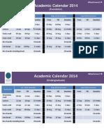 UTP Academic Calendar 2014