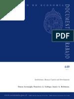 Daron Acemoglu - Institutions, Human Capital and Development