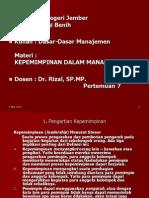 (DDM-KL VII) Kepemimpinan dalam Manajemen.ppt