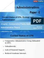 PUB AD (7 B) - Chapter- 7- Current Status of CPA,Ecology and Administration.