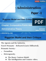 PUB AD (7 C) - Chapter- 7- Riggsian Model and Their Critique