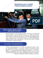 Department of Agribusiness, Plant & Animal Sciences Brochure Inserts