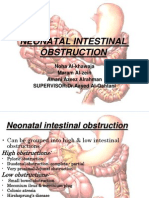 Neonatal Intestinal Obstruction