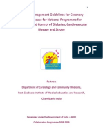 Clinical Management Guidelines for Coronary Artery Disease for National Programme for Prevention and Control of Diabetes, Cardiovascular Disease and Stroke Partners