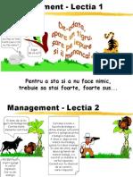 4 Lectii de Management